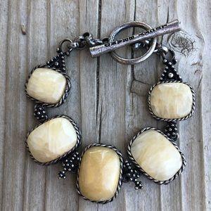Lucky Brand Chunky Natural Stone Bracelet!